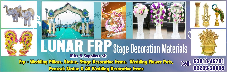 FRP WEDDING DECORATION ITEM in Gudiyatham, Manufacturers, Exporters
