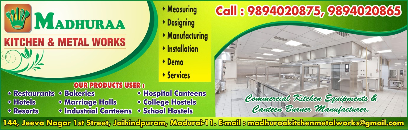 MADHURAA KITCHEN & METAL WORKS,