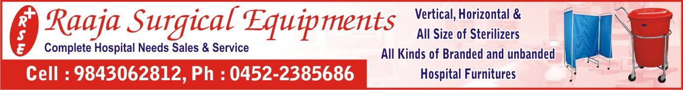 RAAJA SURGICAL EQUIPMENTS, 9943966653