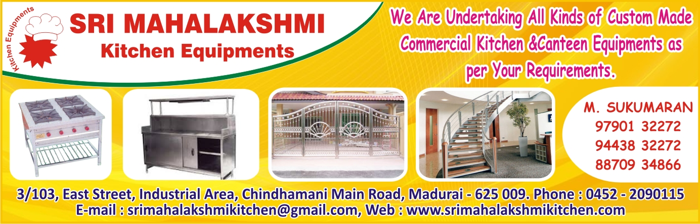SRI MAHALAKSHMI KITCHEN EQUIPMENTS,