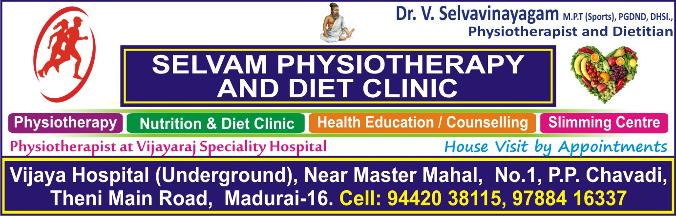 SELVAM PHYSIOTHERAPY AND DIET CLINIC,